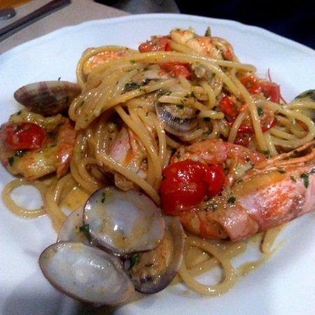 spaghetti vongole e gamberoni