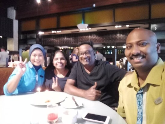 Met friendly staff at the Asian Breakfast/Spice Market , Khairul and Lia.  Always with a smiling face and friendly greetings.  Shared many stories and experiences with us and celebrated our anniversary with us.