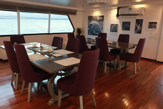 Dining area of M/T Camilla