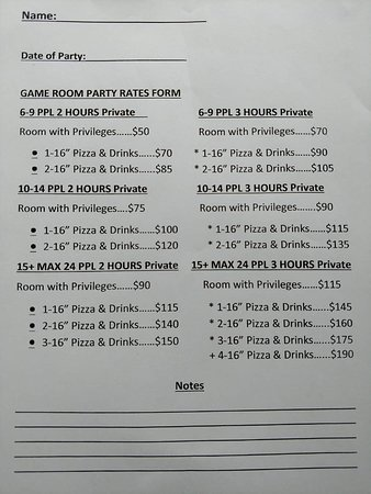 We do birthday/event/group parties! Here's our rates!