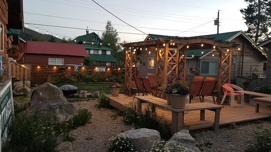 Enjoy the shared courtyard at Lupine Village - July 2018