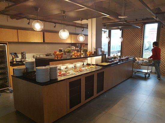 Breakfast Buffet Picture Of Meininger Hotel Berlin Tiergarten Tripadvisor