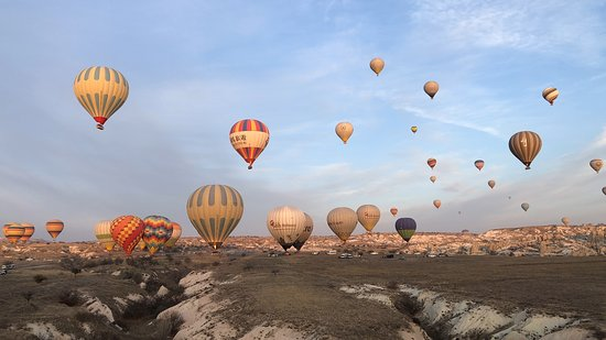 The hot air balloon ride in Cappadocia is must do