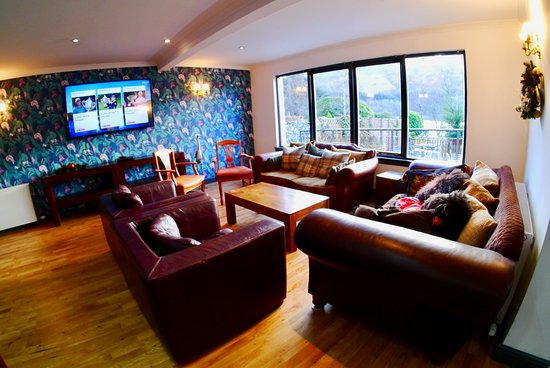 Our new TV drawing room with Loch Earn views