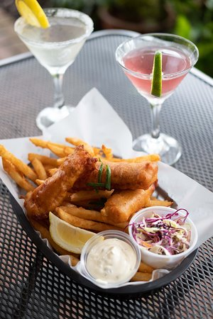 House Fish & Chips, beer-battered to perfection!
