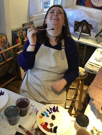 And they LOVE to laugh and paint with us....