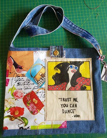 One of my range of bags with inspirational and funny quotes.For children and adults.