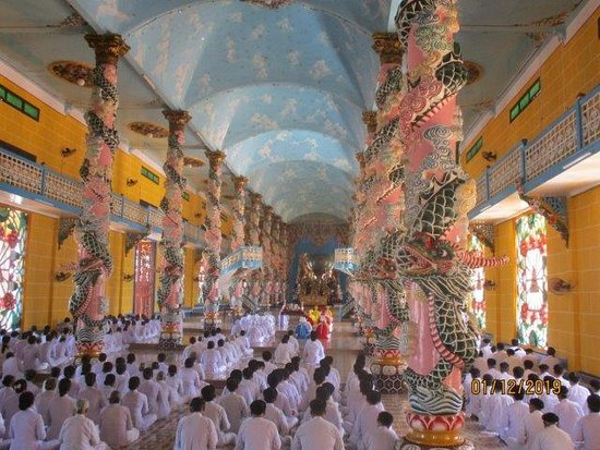 Day Trip to Cao Dai Temple and Cu Chi Tunnels, Including Lunch: the hall