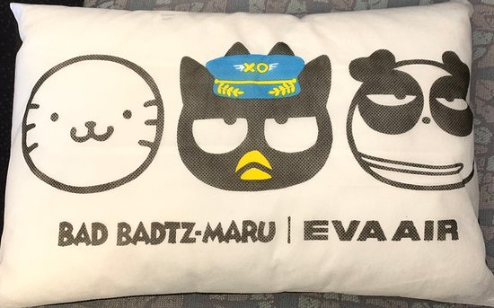 EVA Air: 酷企鵝抱枕