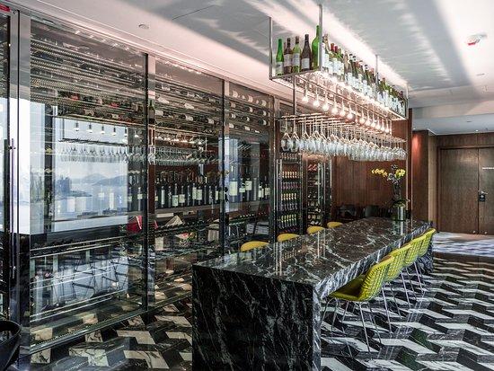 Above & Beyond wine room