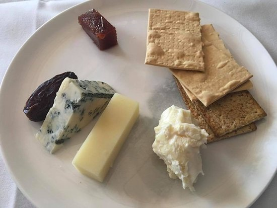 Qantas: A selection of cheese served with accompaniments