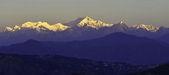 Kanchenjungha from balcony of HOMECALLING SAMTHAR