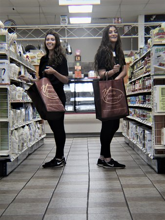 Vince's reusable bags.  At Vince's we are making every effort to reduce our carbon footprint with our choices