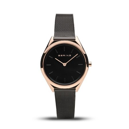 #Bering UltraSlim Rose Gold Plated #Watch With Mesh Bracelete, Sapphire Crystal, 3 Years International Warranty, For 159€ .