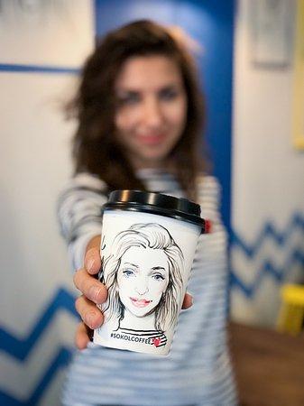 портрет на стаканчике при заказе любого напитка