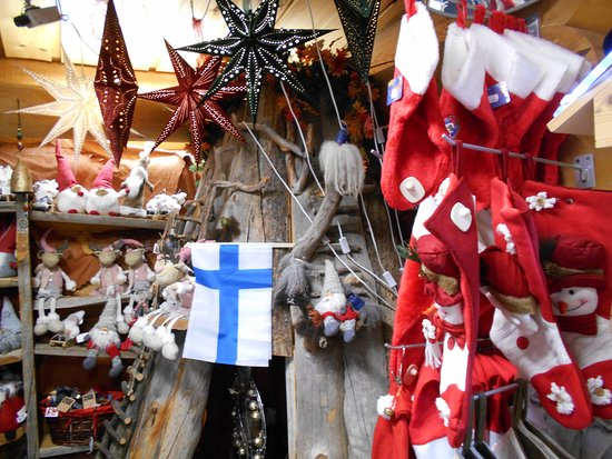 Souvenir shop in Santa Claus Village
