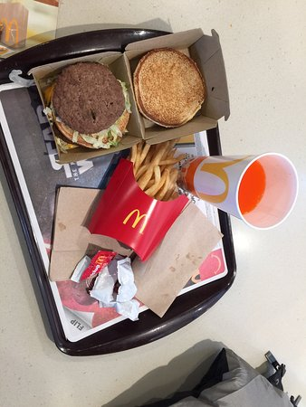 Big Mac with fries and drink