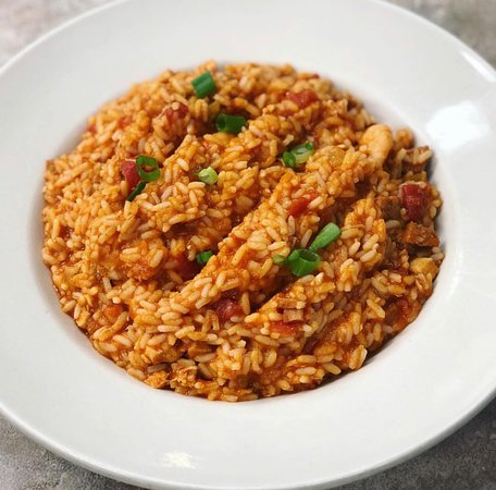 Homemade Jambalaya (available as a side, a meal or for catering)