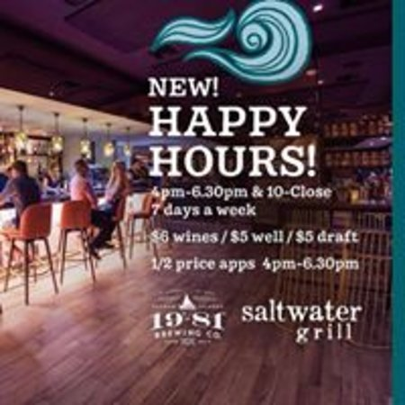 Happy Hours 4pm - 630pm ...7 days/week