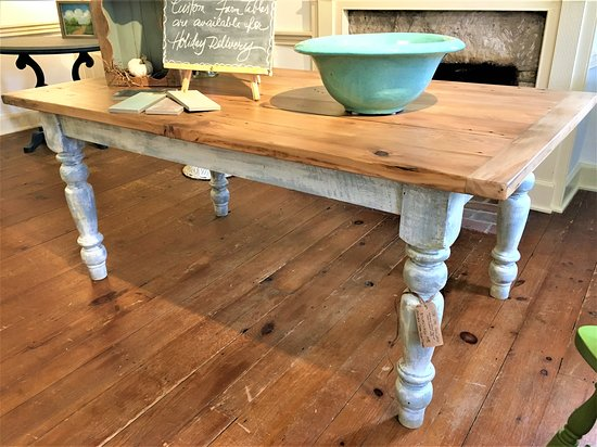 Farm Tables, custom made from antique repurposed barn wood.