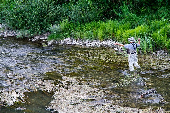 Fly fishing in the gold medal waters of the Rio Grande River