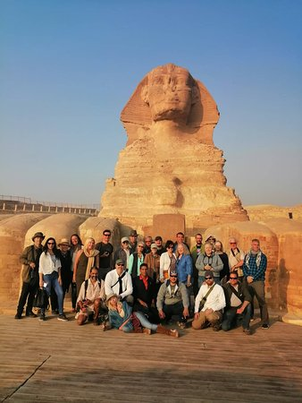 Megalithomania group in front of the Sphinx