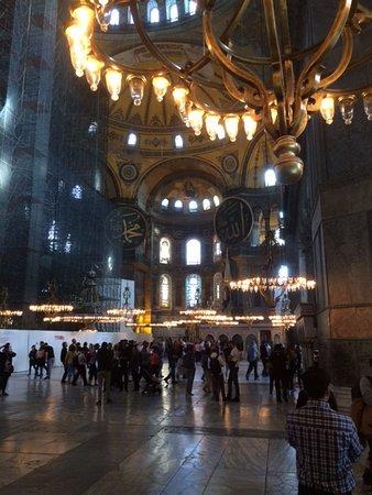 Historical Peninsula: Hagia Sophia main hall.