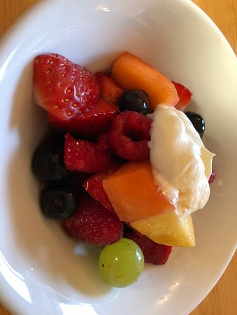 Best breakfast fruit bowl I've ever had.
