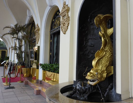 Fountain outside the side entryway