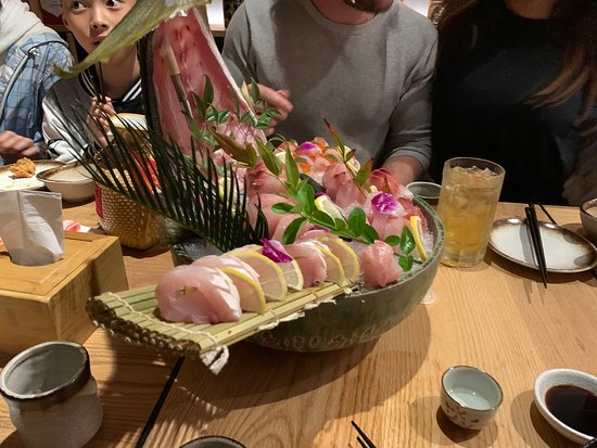 INCREDIBLE sashimi boat, ask the owners about this, I forget the name. It's a local fish caught off the island.