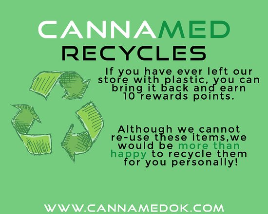 Join our green efforts by recycling your products!
