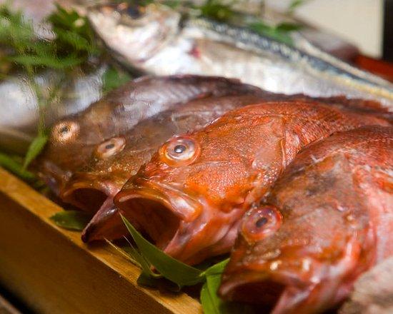 漁港直送の新鮮な食材を使用。新鮮なまま刺し盛でお召し上がりいただけます。