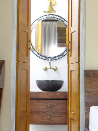 Rustic stylish bathroom