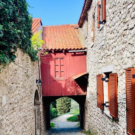 Traditional village with a color of medieval citadel