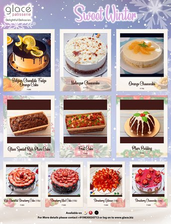 Our chefs have prepared some cold weather friendly desserts for this winter.