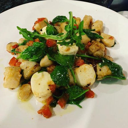 A specially created dish - our gnocchi Caprese