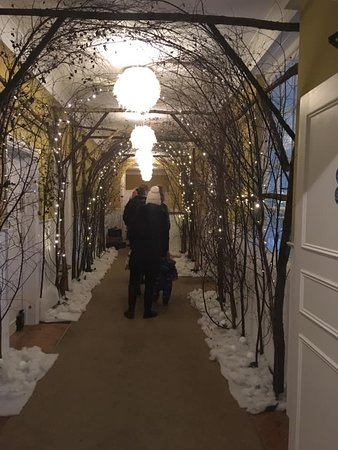 Just a plain old hallway transformed into something magical