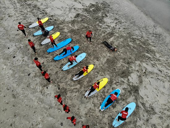 Ofir, Portugal: Surf instructors are trained not only to teach you the basic of surfing, ocean safety and surf etiquette but to keep you safe while you're in the water too.