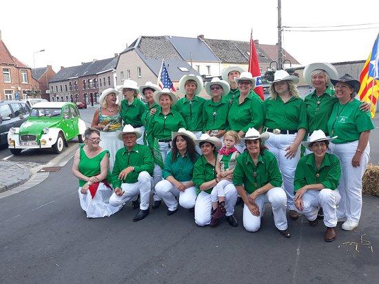 Les green shirt's en démo chaque année au Bistro'c