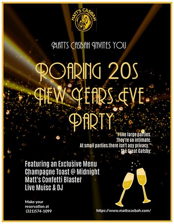 Come party for New Years Eve !