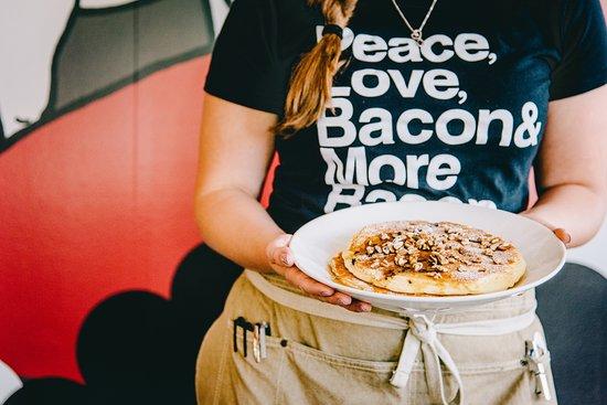 Chocolate + Bacon Pancakes