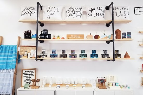 We carry a variety of sugar scrubs, salt scrubs and other bath and body products.