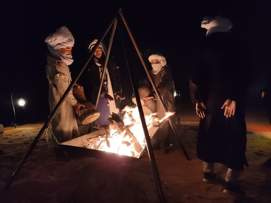 Noche en el desierto del Sahara.