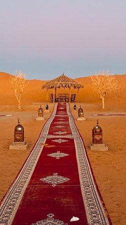 Jaima en el desierto