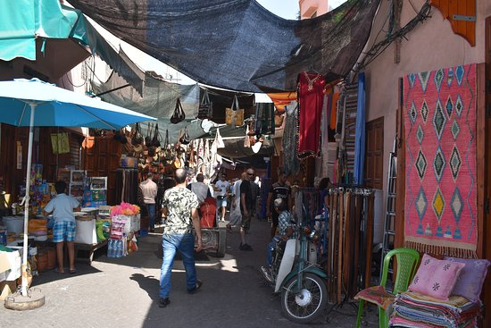This is one of the warren of passage ways and alleys off of the square selling anything and everything.