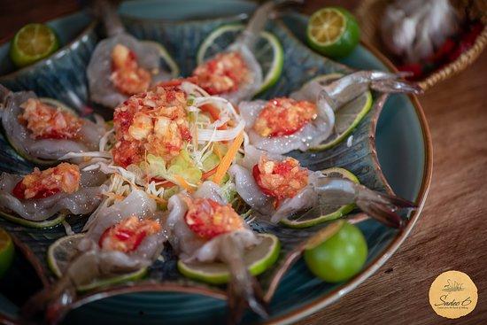 Prawn sashimi   #Sadec6 #68ĐặngVũHỷ
