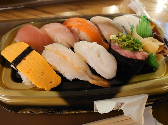 Grab-and-go pre-packaged sushi