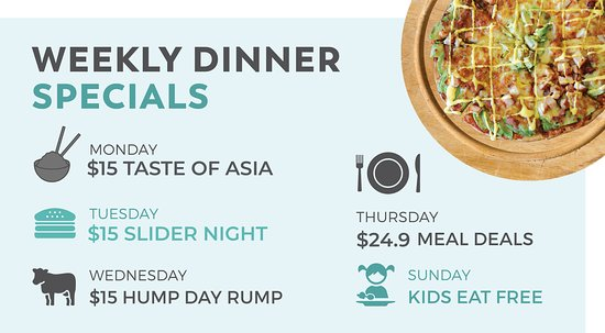 Dicky Beach, Австралия: Weekly Dinner Specials