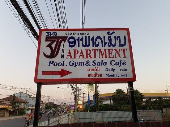 Vientiane, Laos: 3J Apartment Sign