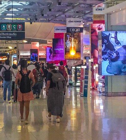 Bangkok, Thailand: Airport scenes